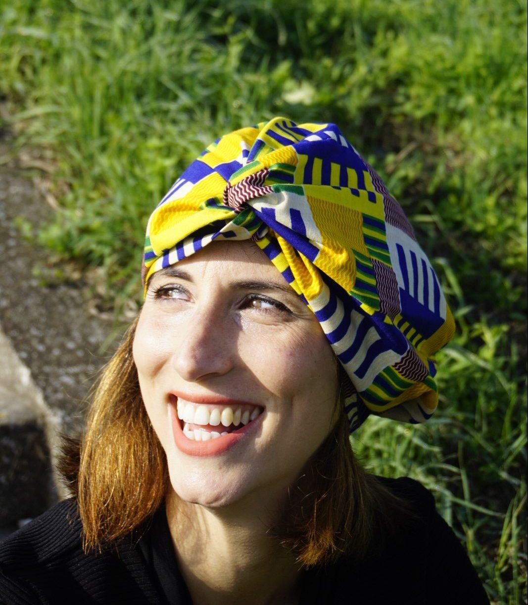 Cappello Abuja indossato