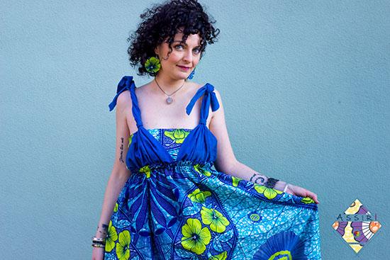 Vestito azzurro Casamance